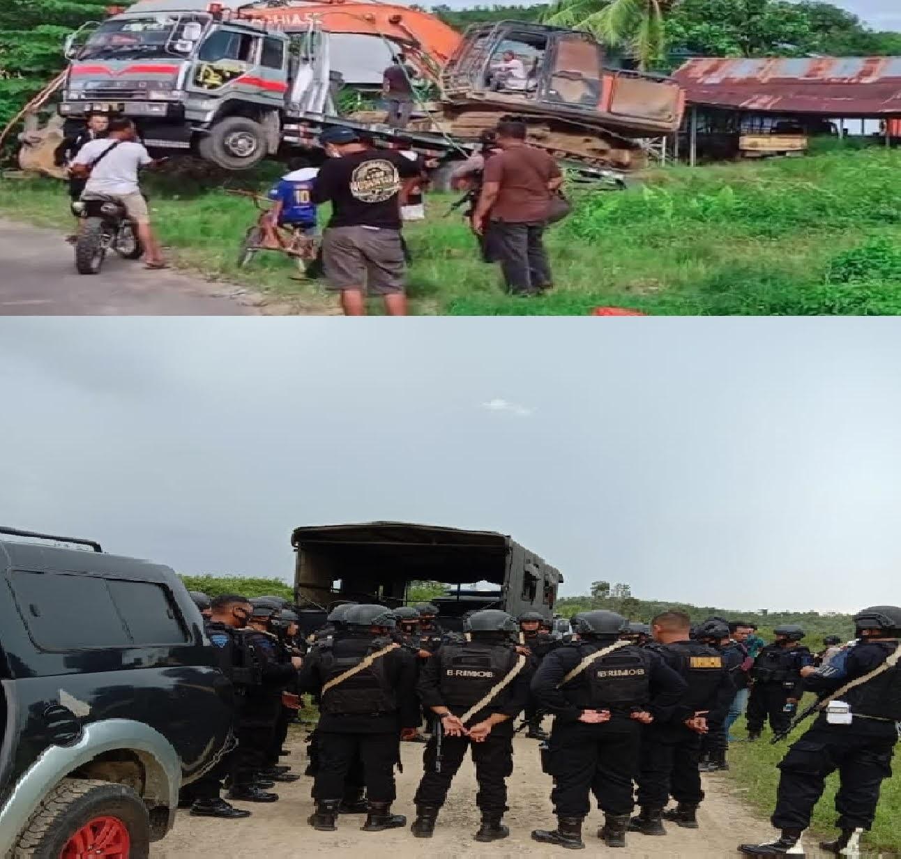 Polda Kalimantan Barat Razia PETI di Bengkayang, 2 Unit Eksavataor dan 1 Unit Mesin Dompeng di Sita Sebagai BB