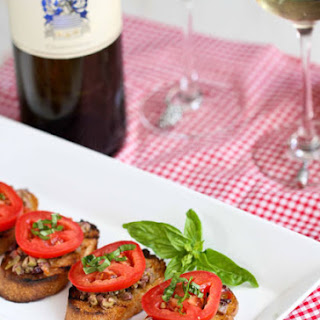 Grilled Crostini With Olive Tapenade And Tomato