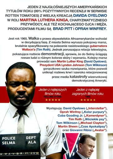 Tył ulotki filmu 'Selma'