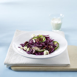 Coleslaw with Feta Cheese and Olives