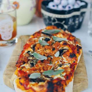 Sausage, Mushroom & Sage Pizza.