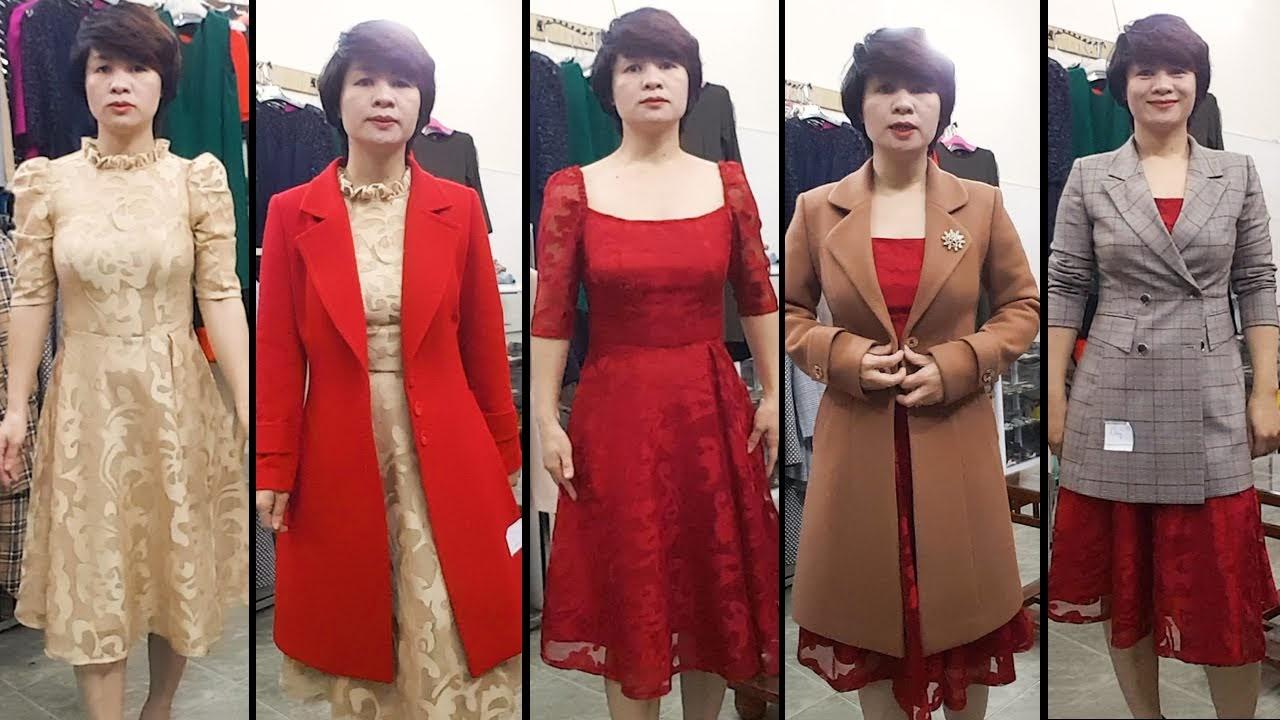 Mix đồ Váy xoè Midi với Áo khoác vest nữ thời trang thuỷ