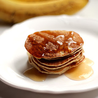 Flourless Gluten Free Banana Oat Pancakes