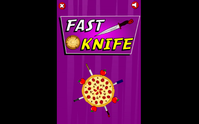 Fast knife throwing game