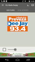 Screenshot of 93,4 Radio DeeJay