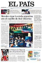 Photo: En la portada de EL PAÍS del miércoles 2 de mayo: Morales sigue la estela argentina con el expolio de Red Eléctrica; El Parlamento británico afirma que Murdoch no es apto para dirigir su grupo; Urdangarin ofrece 1,7 millones para evitar que su juicio salpique al Rey; El Primero de Mayo da alas a la protesta social. http://srv00.epimg.net/pdf/elpais/1aPagina/2012/05/ep-20120502.pdf
