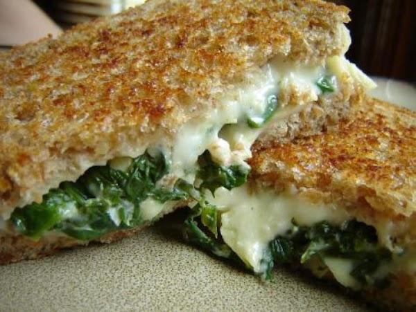 Spinach, Artichoke / Monterey Jack Grilled Cheese Recipe