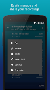 Hi-Q MP3 Voice Recorder (Pro) w/ Dropbox & G Drive- screenshot thumbnail