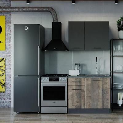 Кухня Гранж  1032х600  Антрацит/ Детройт/ Антрацит,Гранж