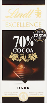 Lindt Excellence Dark Chocolate Bar - 70% Cocoa, 100g