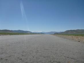 Photo: První asfalt v Mongolsku, bohužel na spousty stovek kilometrů i poslední