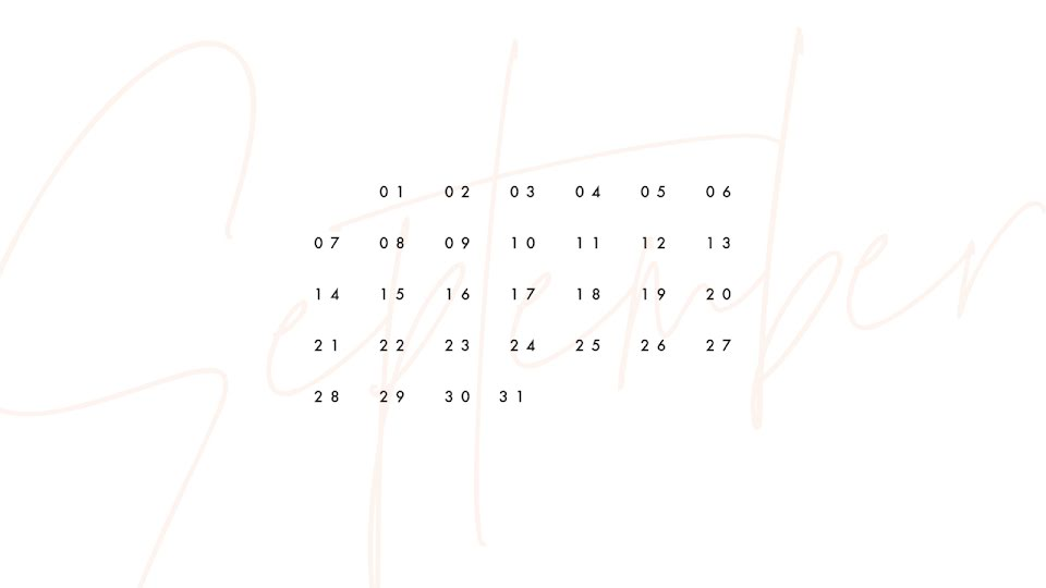 Scripted Monthly - Calendar Template