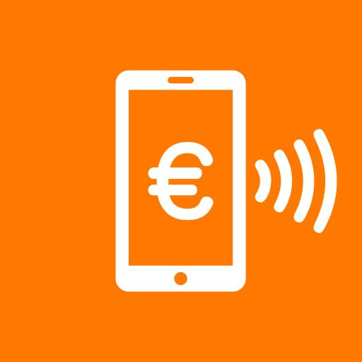 Orange Cash Icon