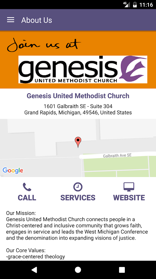 Genesis United Methodist- screenshot
