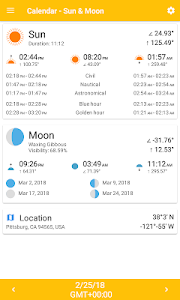 Calendar - Sun & Moon 2.2.3 (Ad-Free)