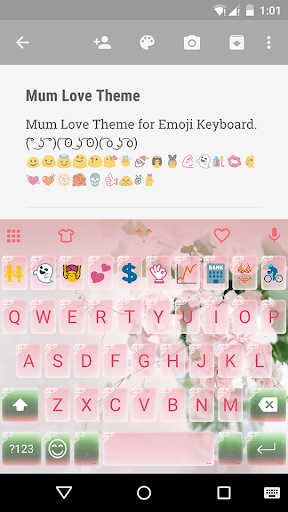 Mum Love Emoji Keyboard Theme