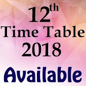 12th Time Table 2018 Date Sheet Plus Two Inter HSC