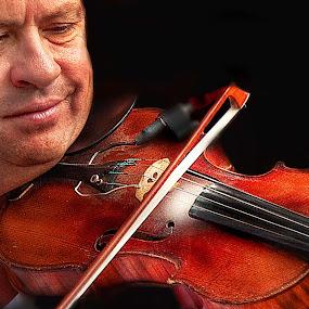 violin by Irene Orloff - People Musicians & Entertainers ( music, violin, musician, man )