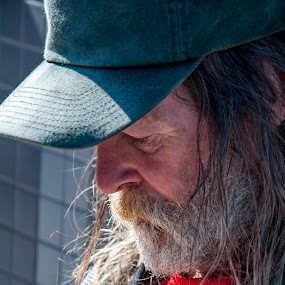 Homeless on American Streets 11 by Chuck Vinson - People Street & Candids ( destitute, veterans, city streets, homeless, dirty, sidewalks, needy, men, forgotten, hungry, people,  )