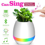 Smart Flower Pots Music Bluetooth Speaker With Touch Sensors With LED Decoration Night Light