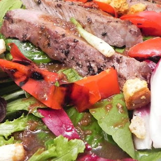 Grilled Sirloin Salad with Sesame-Ginger Dressing