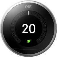 Nest thermostat temperature screen