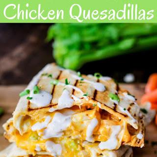 Grilled Buffalo Chicken Quesdaillas.