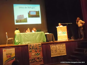 """Photo: Encuentro """"Las Comunidades frente al Cambio Climático: Gestión de Riesgos y participación"""" CONSTRUPAS Geografia Viva, 13 de octubre de 2011, Teatro Cesar Rengifo, Mérida. Venezuela"""