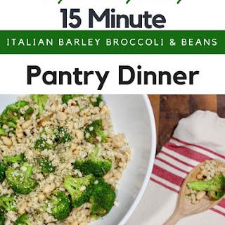 Italian Broccoli, Barley and Beans.