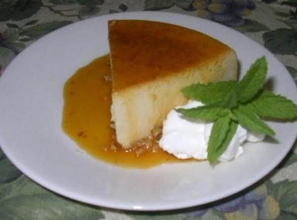 Coconut Flan Or Queso De Coco