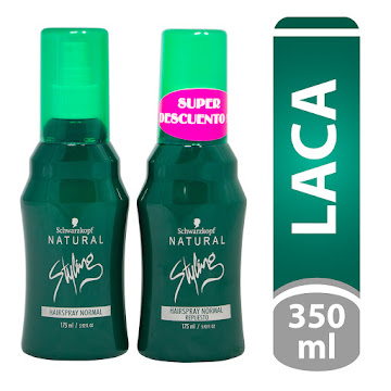 LACA NATURAL STYLING HAIRSPRAY NORMAL 175ML + REPUESTO NORMAL 175ML