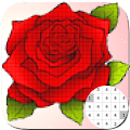 Flower Coloring By Number-PixelArt APK
