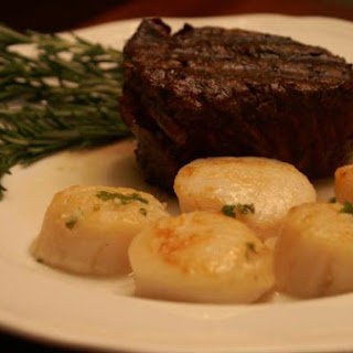His & Her Surf & Turf- Filet & Champagne Scallops Recipe