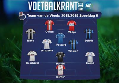 Heel wat blauw-wit en blauw-zwart in het Team van de Week