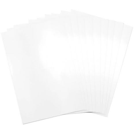 Sizzix Surfacez Shrink Plastic 8.5X11 10/Pkg - White