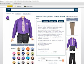 Photo: I couldn't resist looking at the dress wear section just to see what they had! There were the cutest little vests and even suits and tuxedos! I found this adorable purple dress shirt and tie set that I just loved {purple for the Ravens, you know}. We didn't purchase it this time since we don't have any formal events on the calendar anytime soon, but I'm definitely going to remember it next time he needs a dressy outfit.