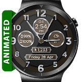 Brushed Wood HD Watch Face