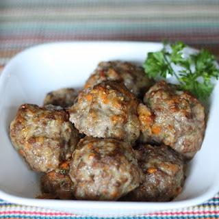 Healthier Meatballs with Veggies