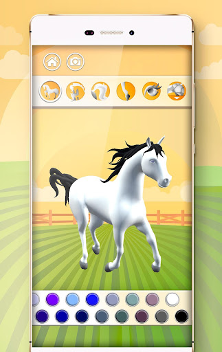 Horse Coloring Book 3D image   9