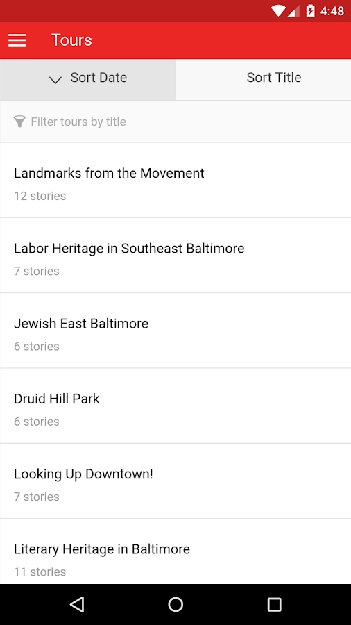 Explore Baltimore Heritage 2.0- screenshot