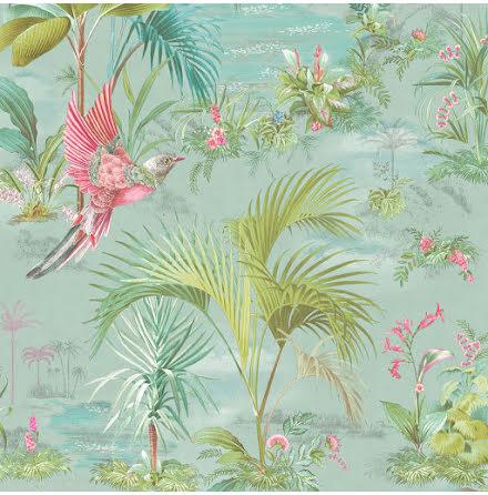 Pip 2020 Palm Scene Tapet med palmer - Blå