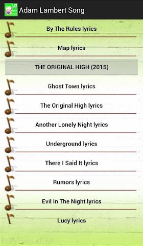 android All Lyrics Of Adam Lambert Screenshot 1