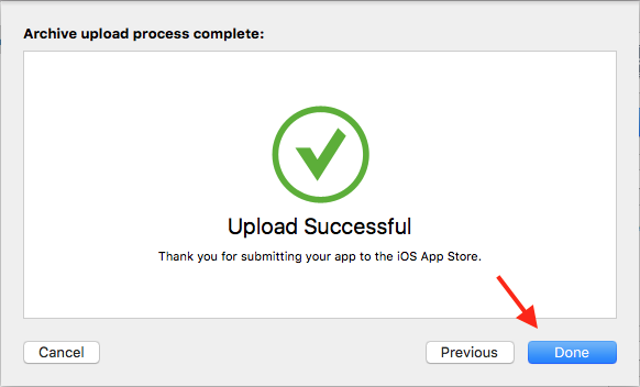 how to get an ios app on the app store successful upload