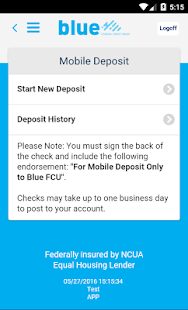 Blue Federal Credit Union- screenshot thumbnail