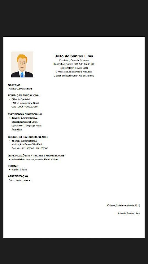 Resume For Free Extraordinary Resume Free  Android Apps On Google Play