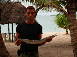 Photo: René a budoucí večeře - Marlin za 60 korun / René and our future dinner - Marlin for 3USD