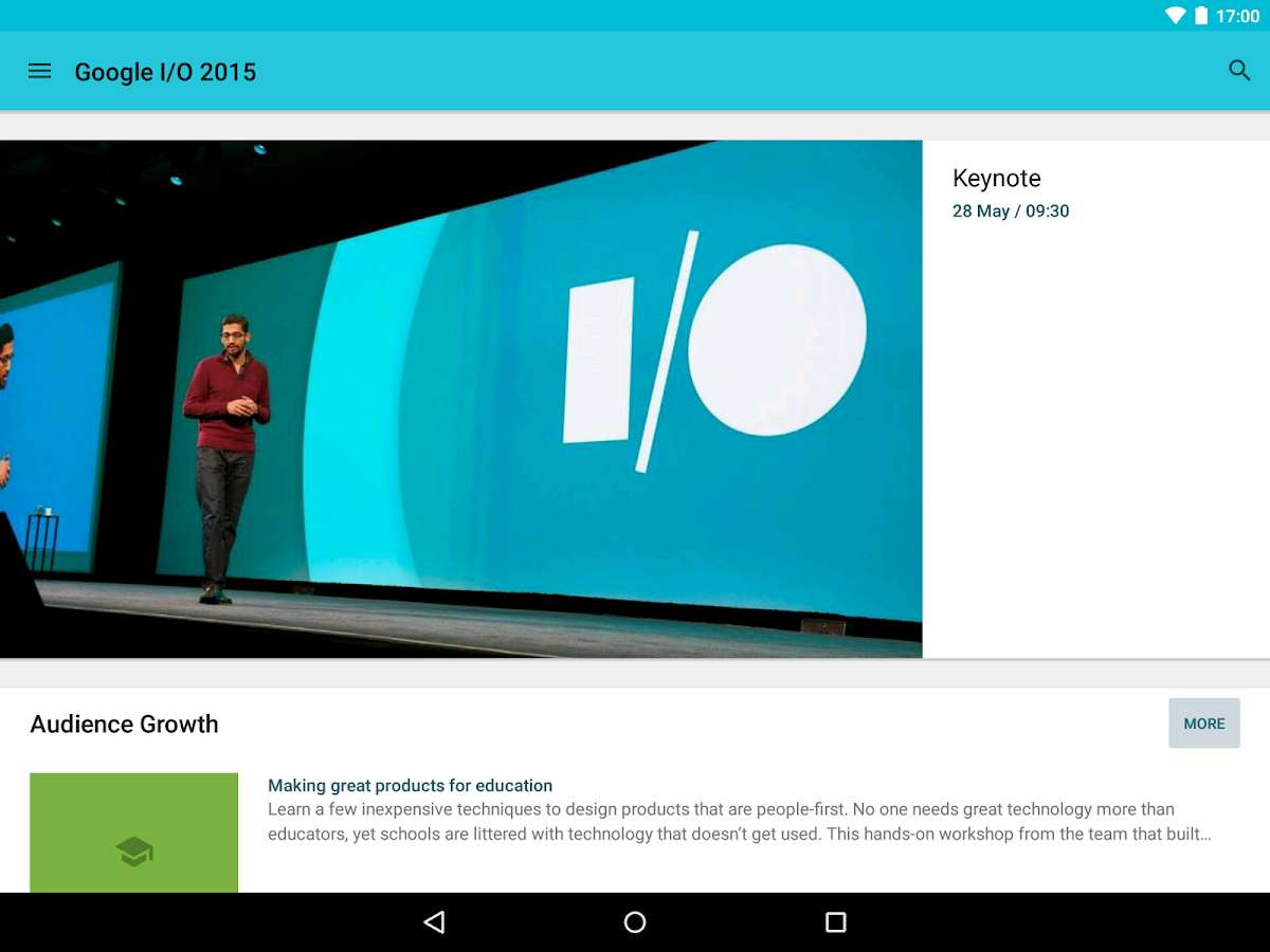 Google I/O 2015 - screenshot