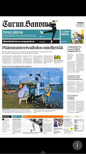 Turun Sanomat näköislehti screenshot 2