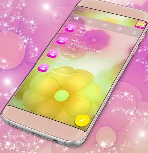 Barevné květiny SMS téma - náhled