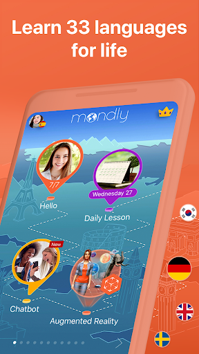 Learn 33 Languages Free - Mondly 7.8.0 Screenshots 2